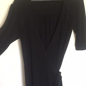 Classic Black Wrap Dress with Belt! Worn Once!